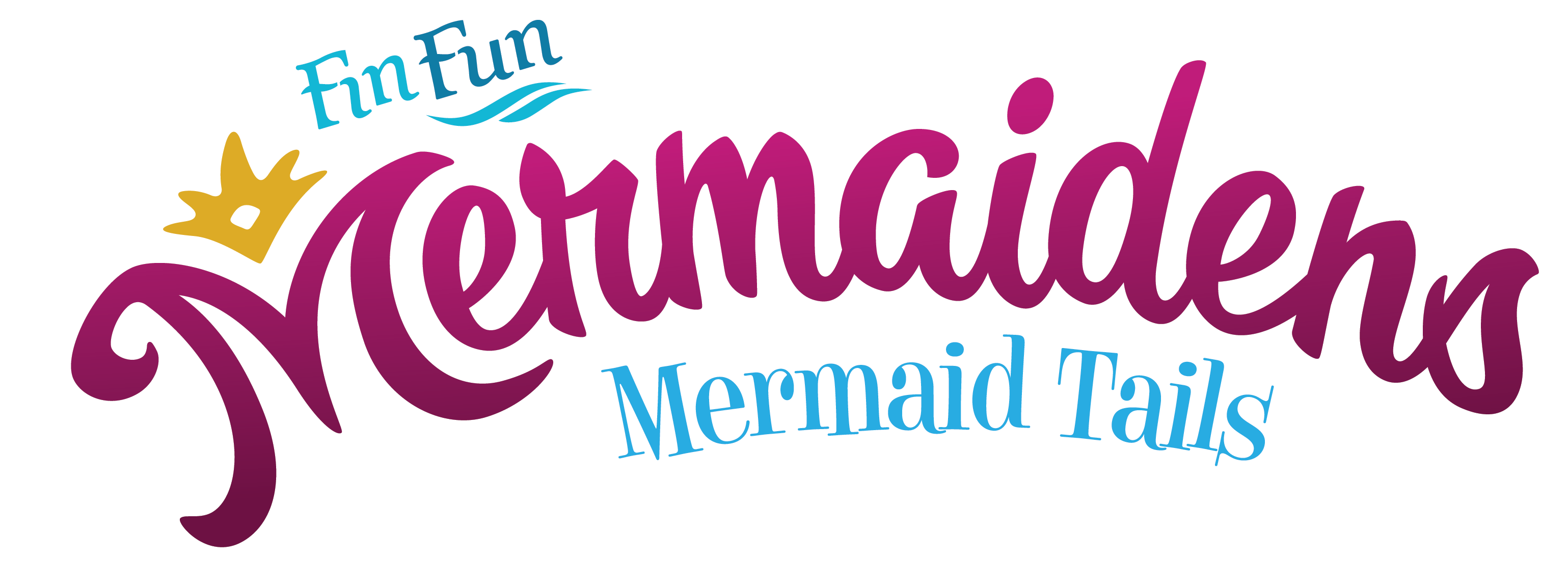 fin fun mermaidens logo, mermaid tails uk stockist