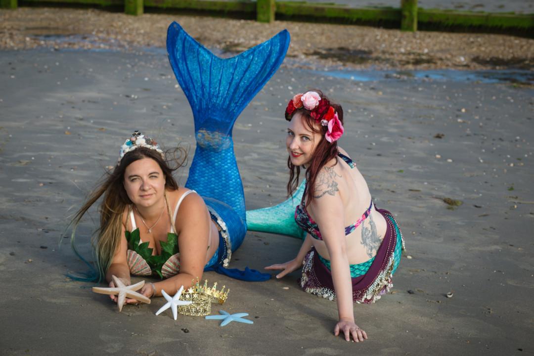 Mermaid Kerenza Sapphire and Mermaid Louise Rose, by Jo Jackson Photography