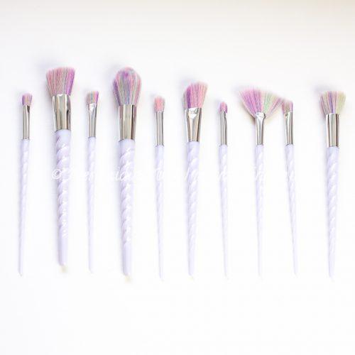 unicorn brushes set of 10 | Mermaiding UK | mermaiding.co.uk