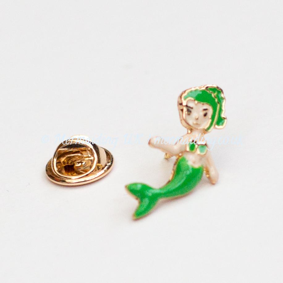 Green mermaid enamel pin | Mermaiding UK | mermaids.co.uk
