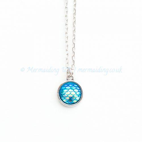 Aqua Blue mermaid scale necklace   Mermaiding UK   mermaiding.co.uk