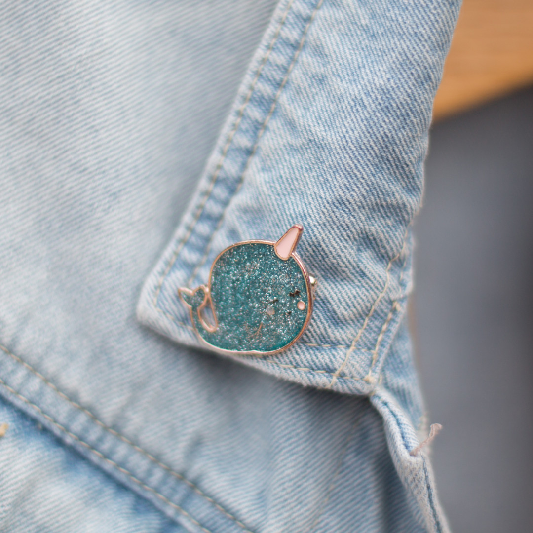 narwhal pin | mermaiding.co.uk