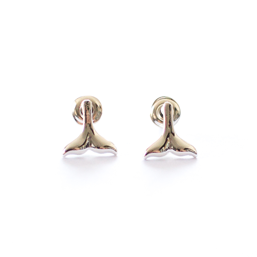 mermaid tail stud earrings | mermaiding.co.uk