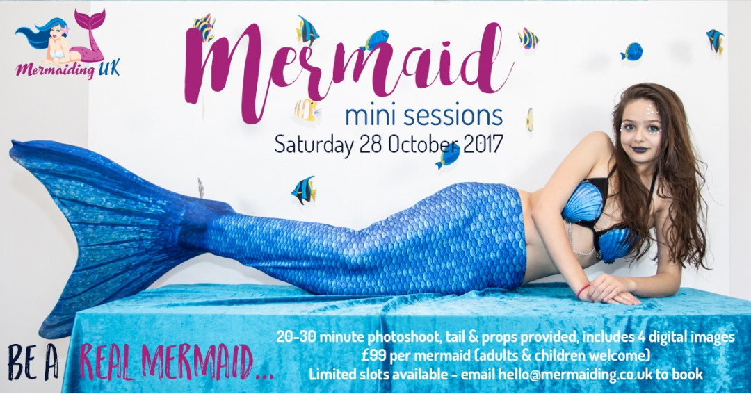 Mermaid Mini Sessions advert   mermaiding.co.uk