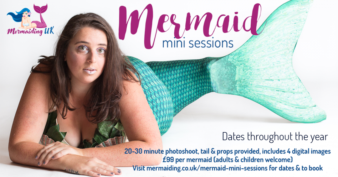 Mermaid Mini Photoshoots | Mermaiding UK | mermaiding.co.uk