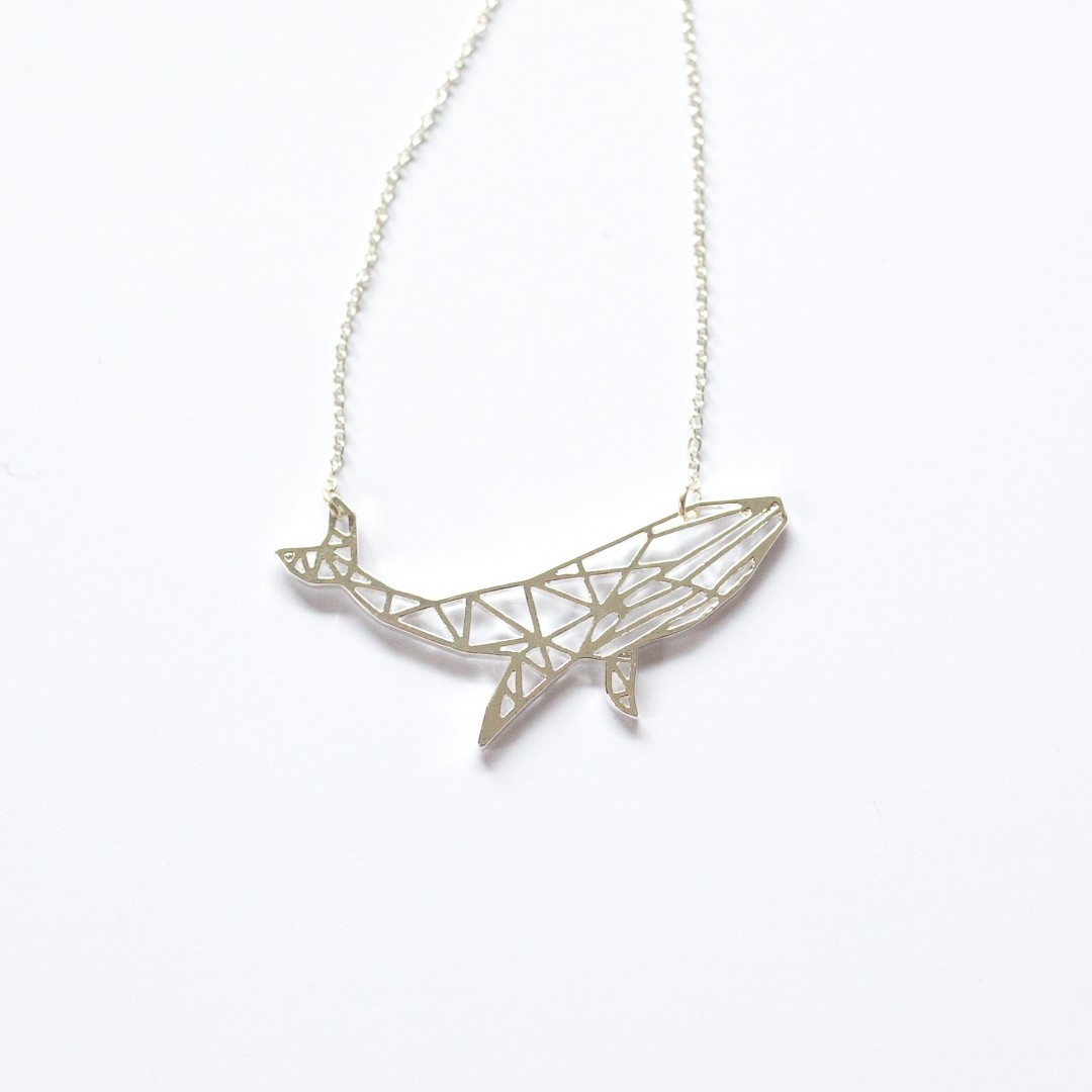 geometric whale necklace | Mermaiding UK | mermaiding.co.uk