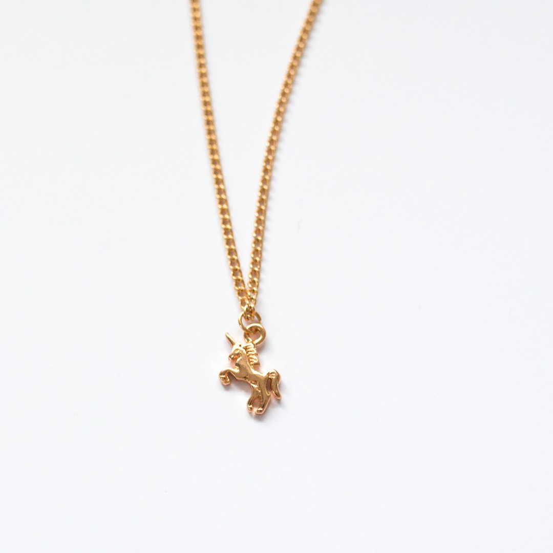 tiny unicorn necklace | Mermaiding UK | mermaiding.co.uk