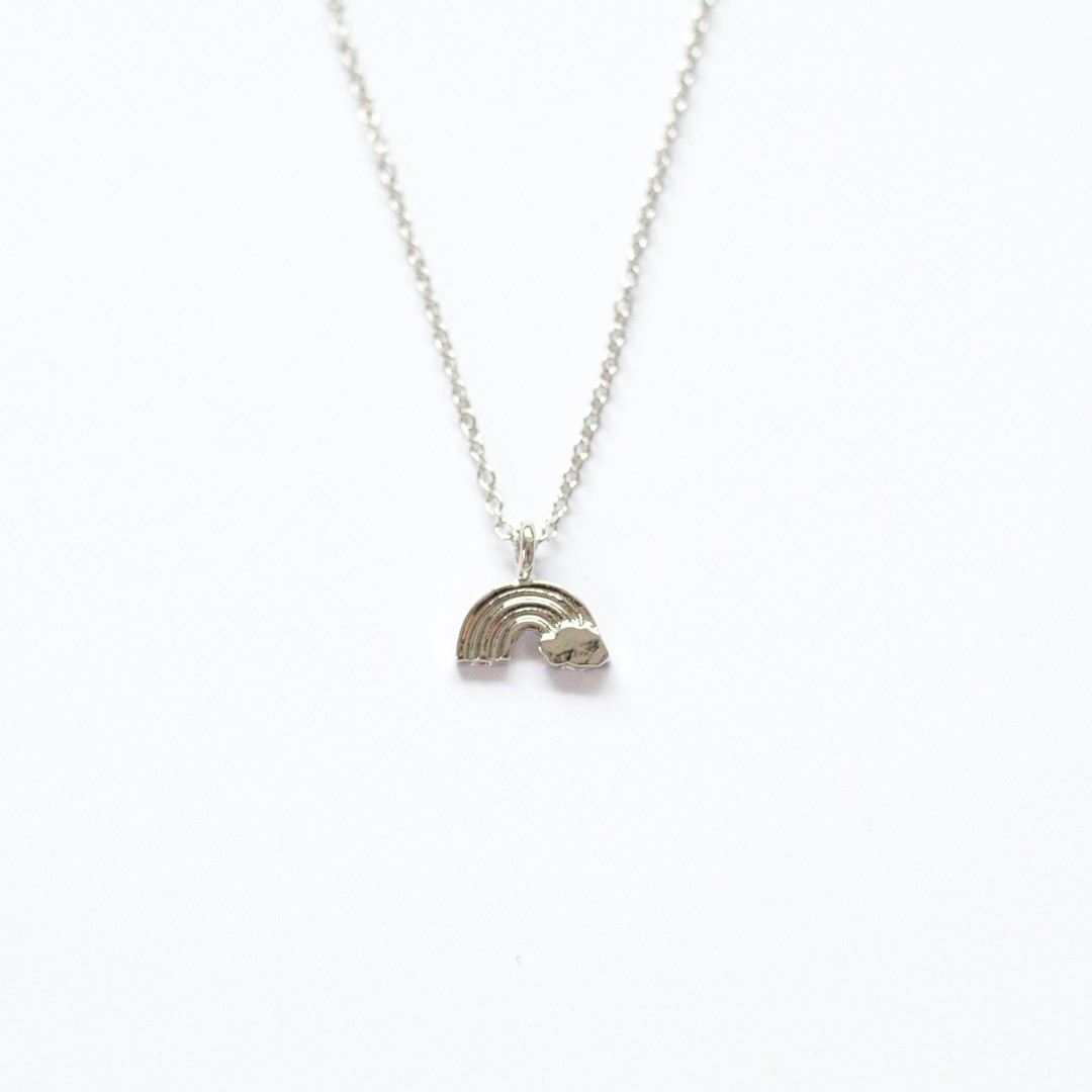 tiny rainbow necklace   Mermaiding UK   mermaiding.co.uk