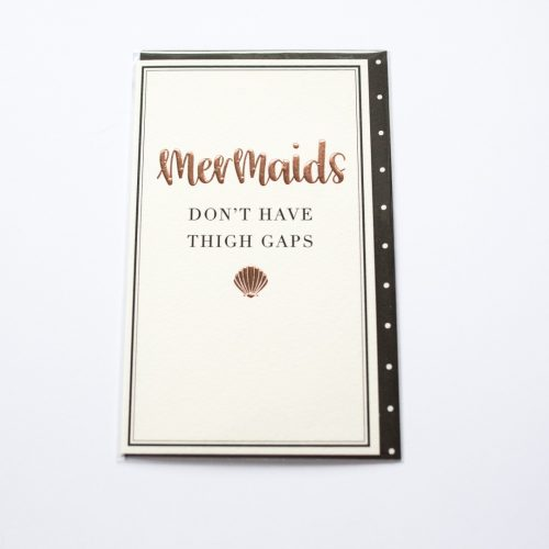 mermaids don't have thigh gaps card | Mermaiding UK | mermaiding.co.uk