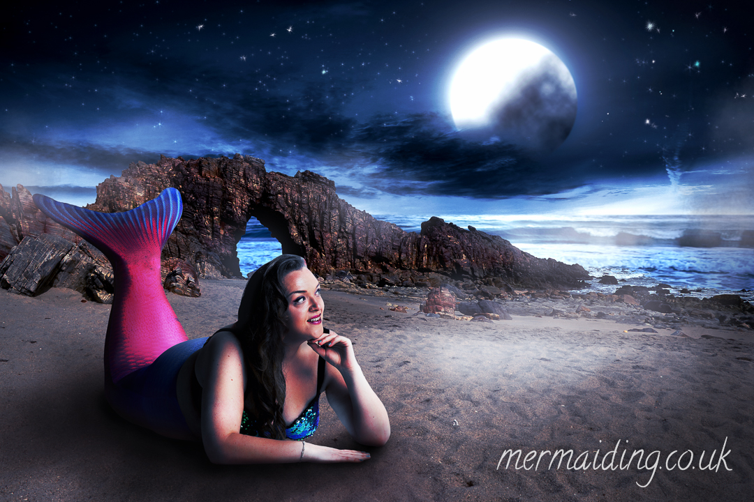 Moon Maiden | fantasy art shoot by Mermaiding UK | mermaiding.co.uk