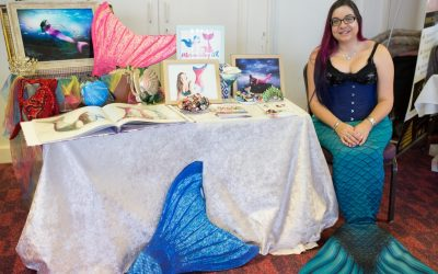 A real mermaid at a wedding fair