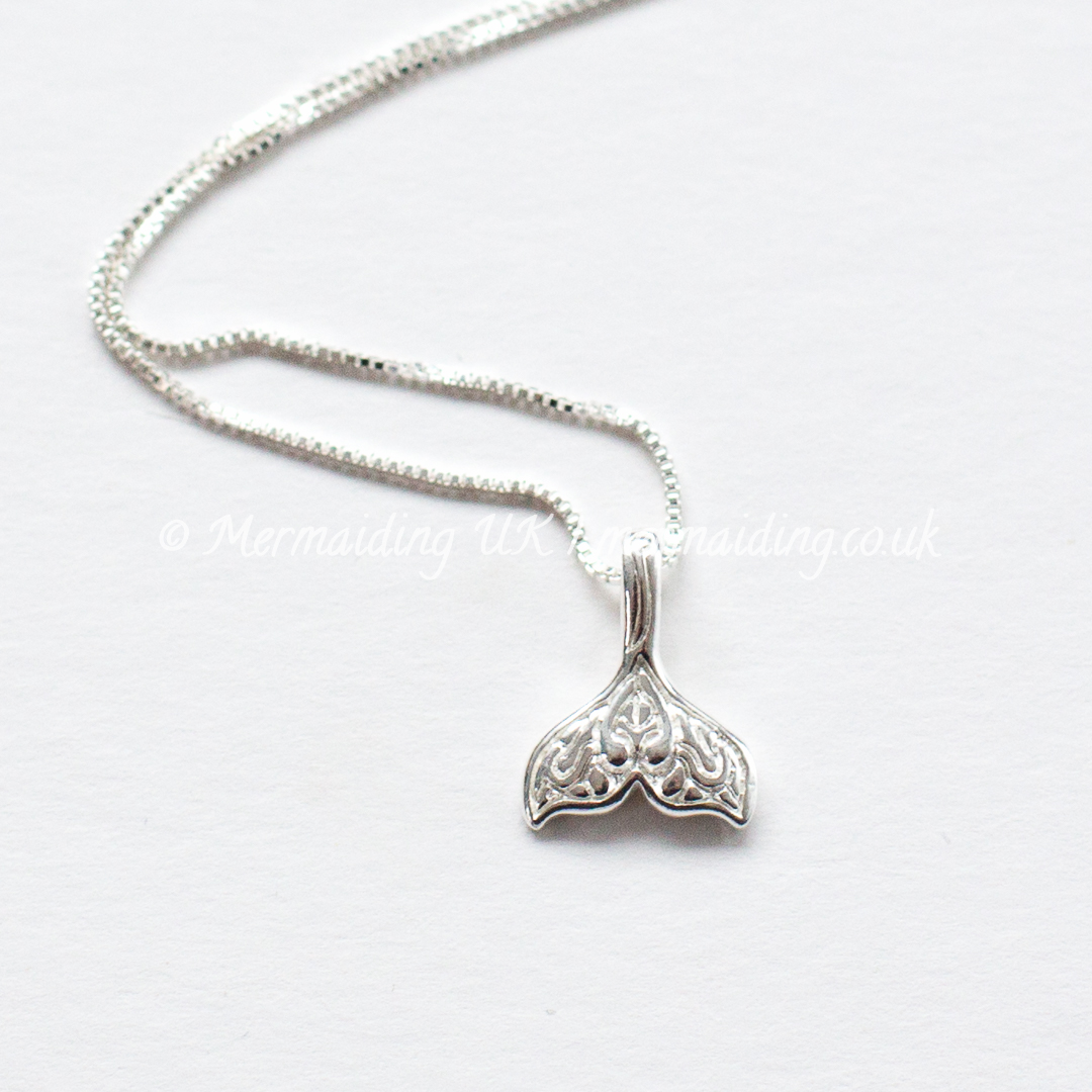 sterling silver mermaid tail necklace | Mermaiding UK | mermaiding.co.uk