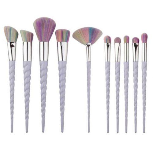 unicorn horn narwhal horn makeup brushes   mermaiding.co.uk