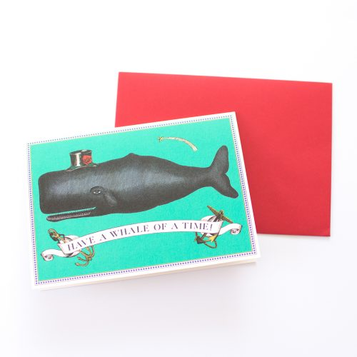 Whale of a Time card by Chase & Wonder | mermaiding.co.uk
