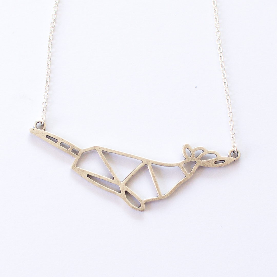 geometric narwhal necklace | mermaiding.co.uk
