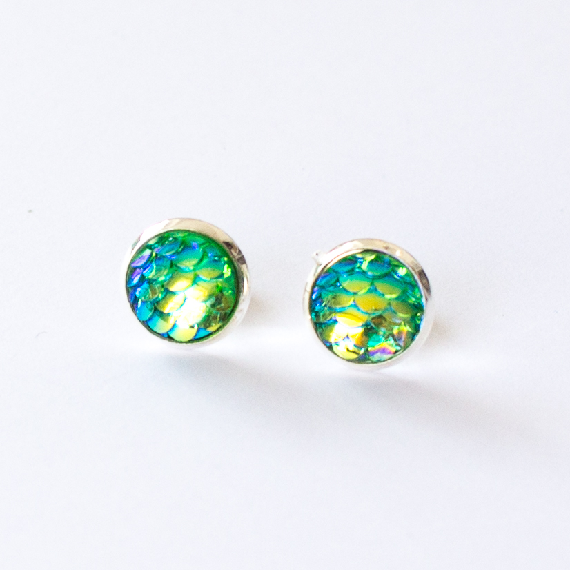 mermaid scale earrings | mermaiding.co.uk