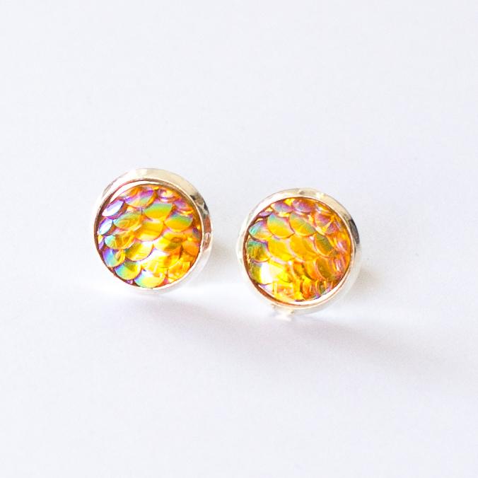 mermaid scale earrings | mermaiding.co.uk