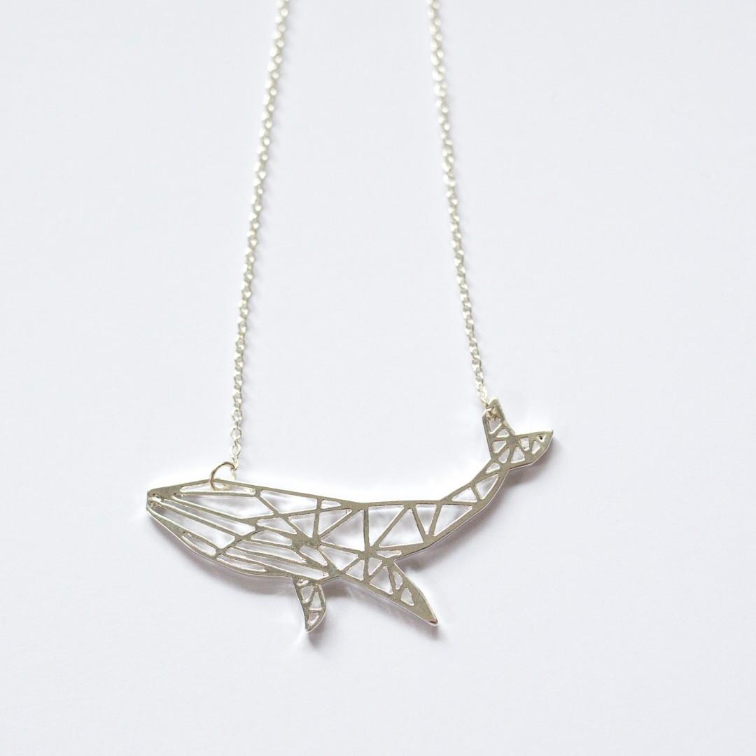geometric whale necklace | Mermaiding UK | mermaiding.co.uk