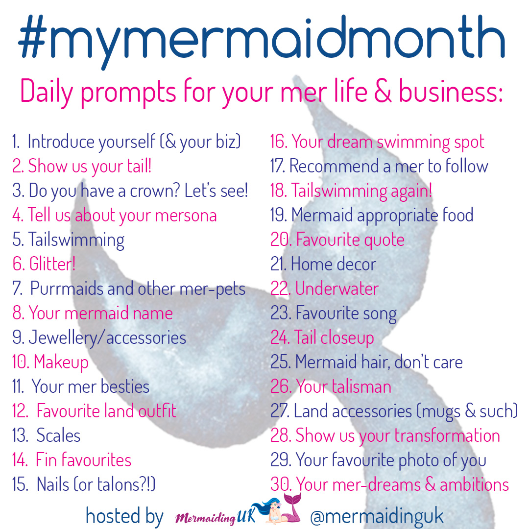 #mymermaidmonth by Mermaiding UK | mermaiding.co.uk