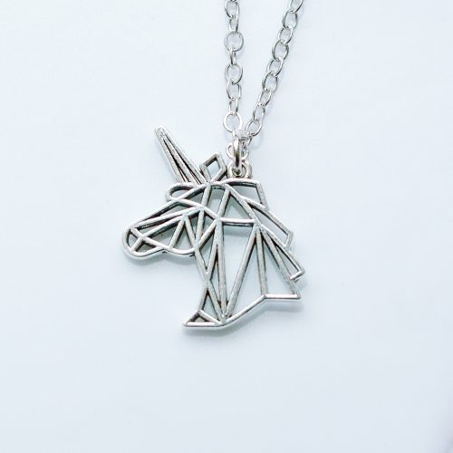 geometric origami unicorn necklace | mermaid gifts uk | mermaiding.co.uk