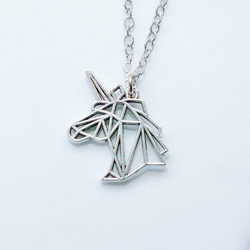 geometric origami unicorn necklace | mermaid gifts uk | mermaiding.co.uk